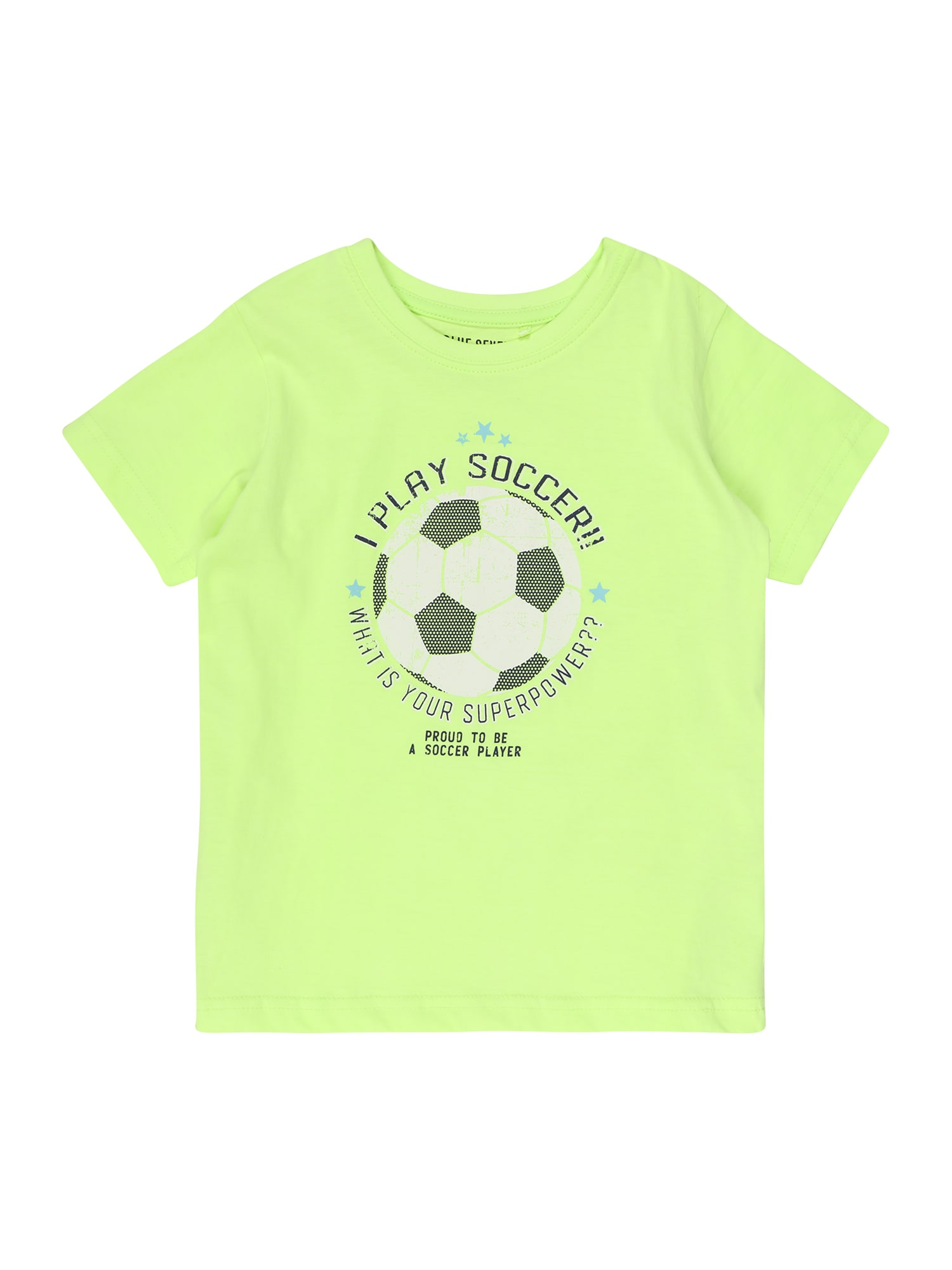 BLUE SEVEN Marškinėliai neoninė žalia / balta / juoda