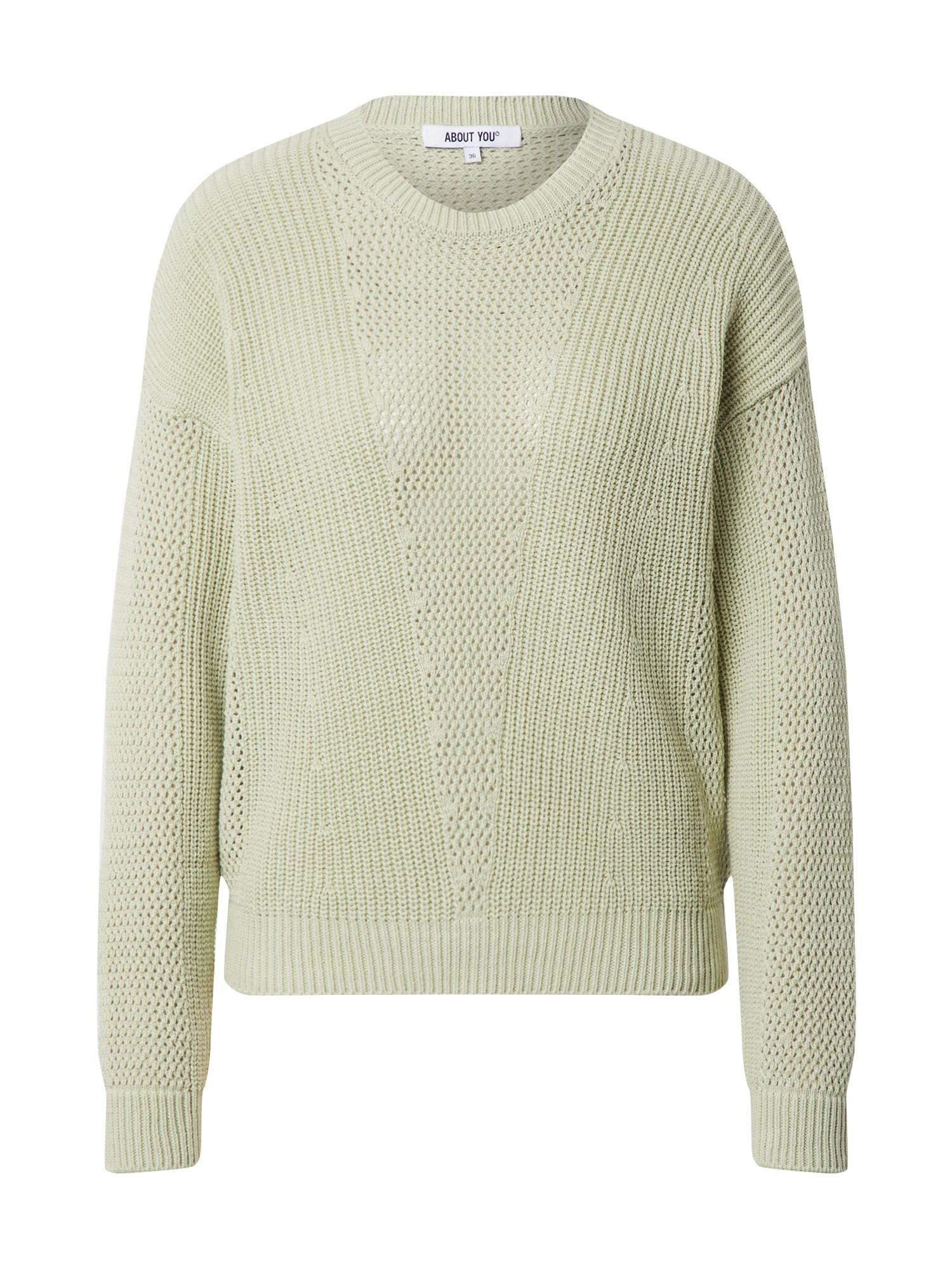 ABOUT YOU Megztinis 'Thea' mėtų spalva