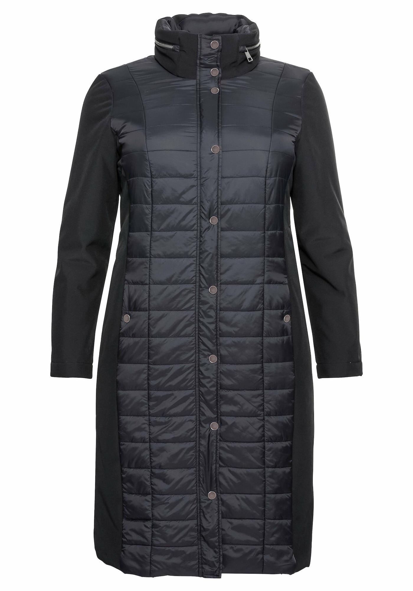 SHEEGO Demisezoninis paltas juoda