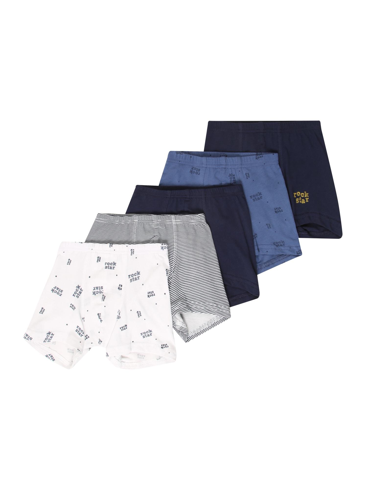 SCHIESSER Spodní prádlo 'Henry'  bílá / tmavě modrá / královská modrá