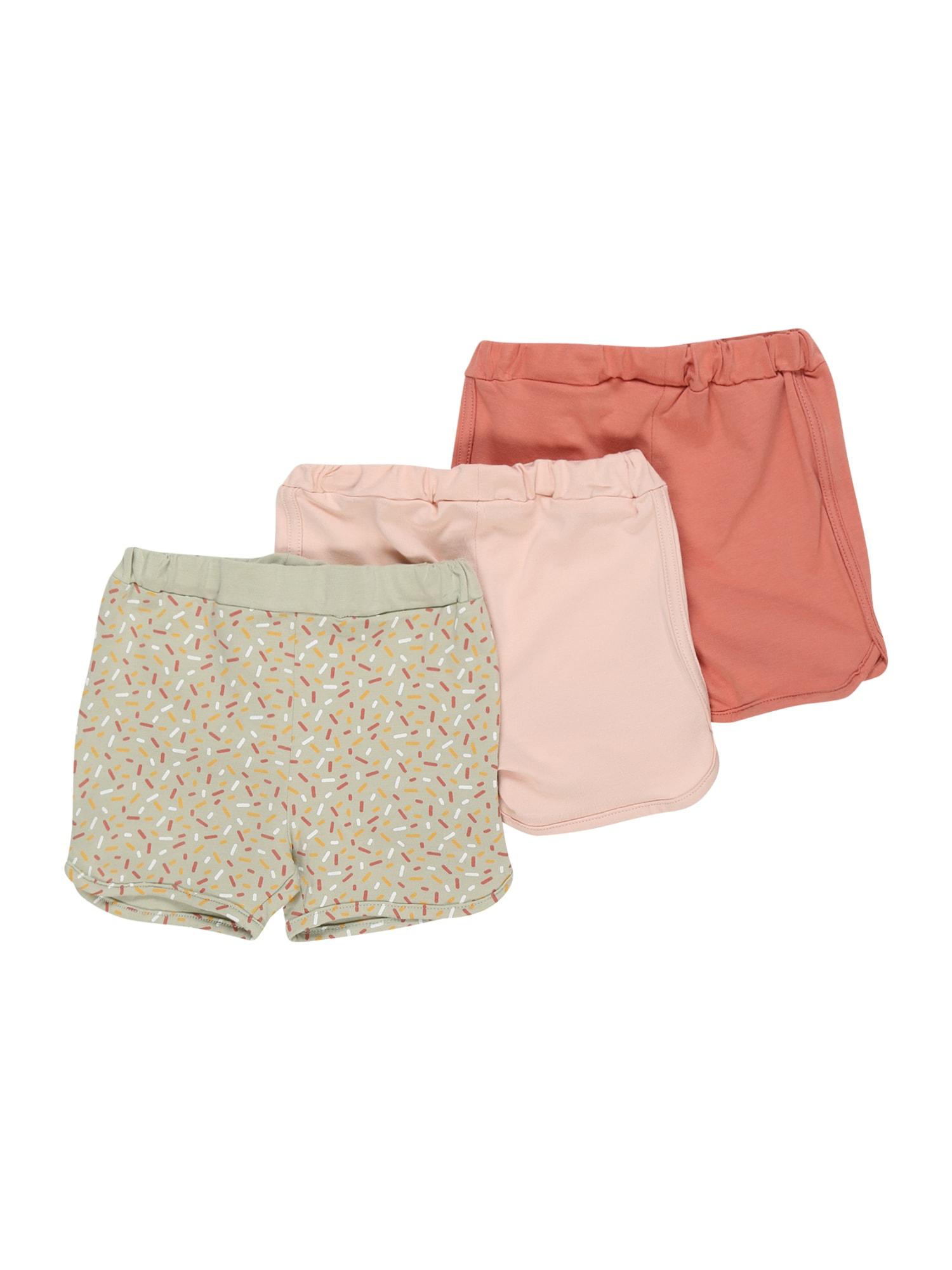 NAME IT Kelnės 'BARBEL' pastelinė žalia / pastelinė rožinė / lašišų spalva