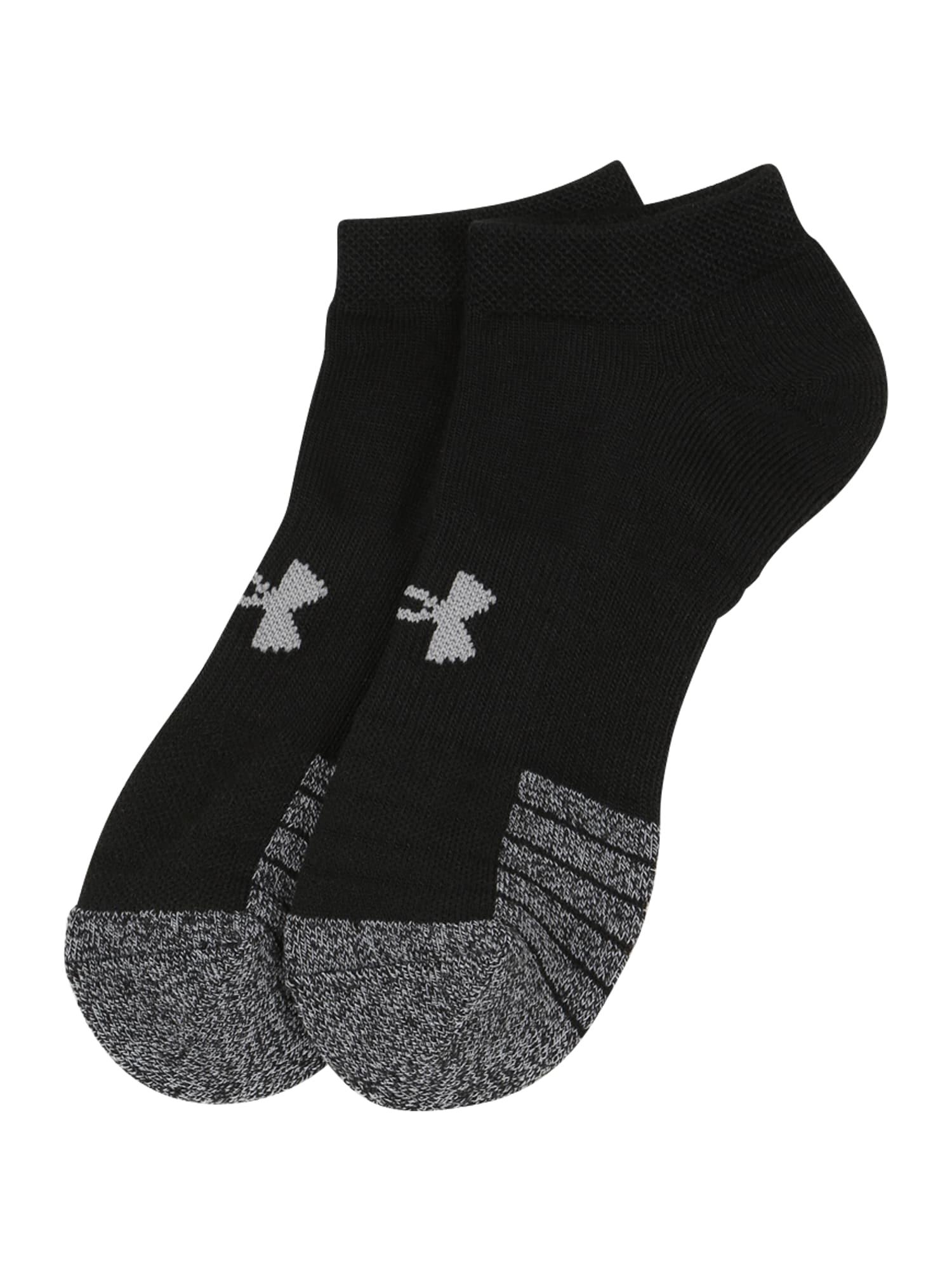 UNDER ARMOUR Sportinės kojinės juoda / pilka