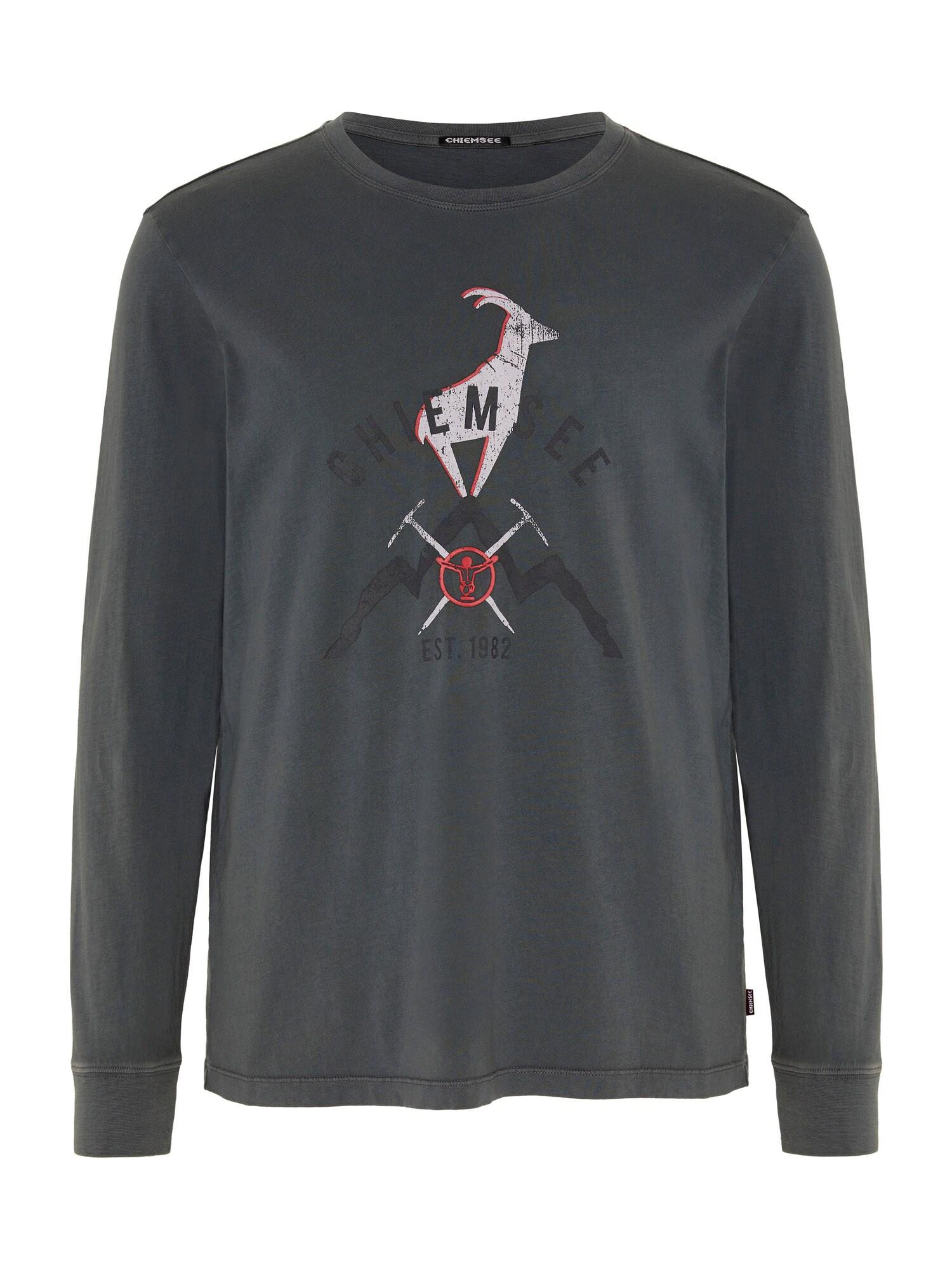 CHIEMSEE Funkční tričko 'BROAD PEAK'  antracitová / červená / bílá