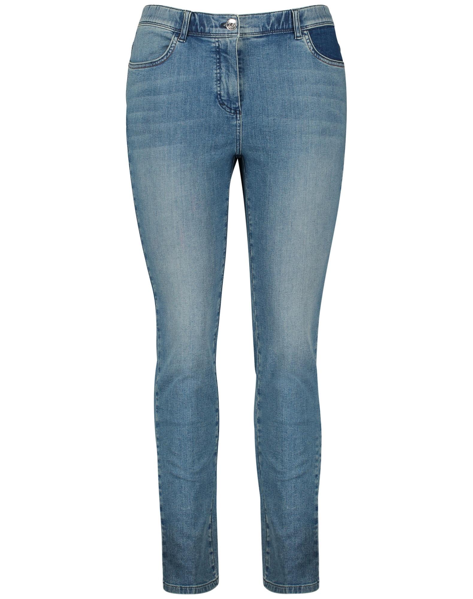SAMOON Džinsai tamsiai (džinso) mėlyna