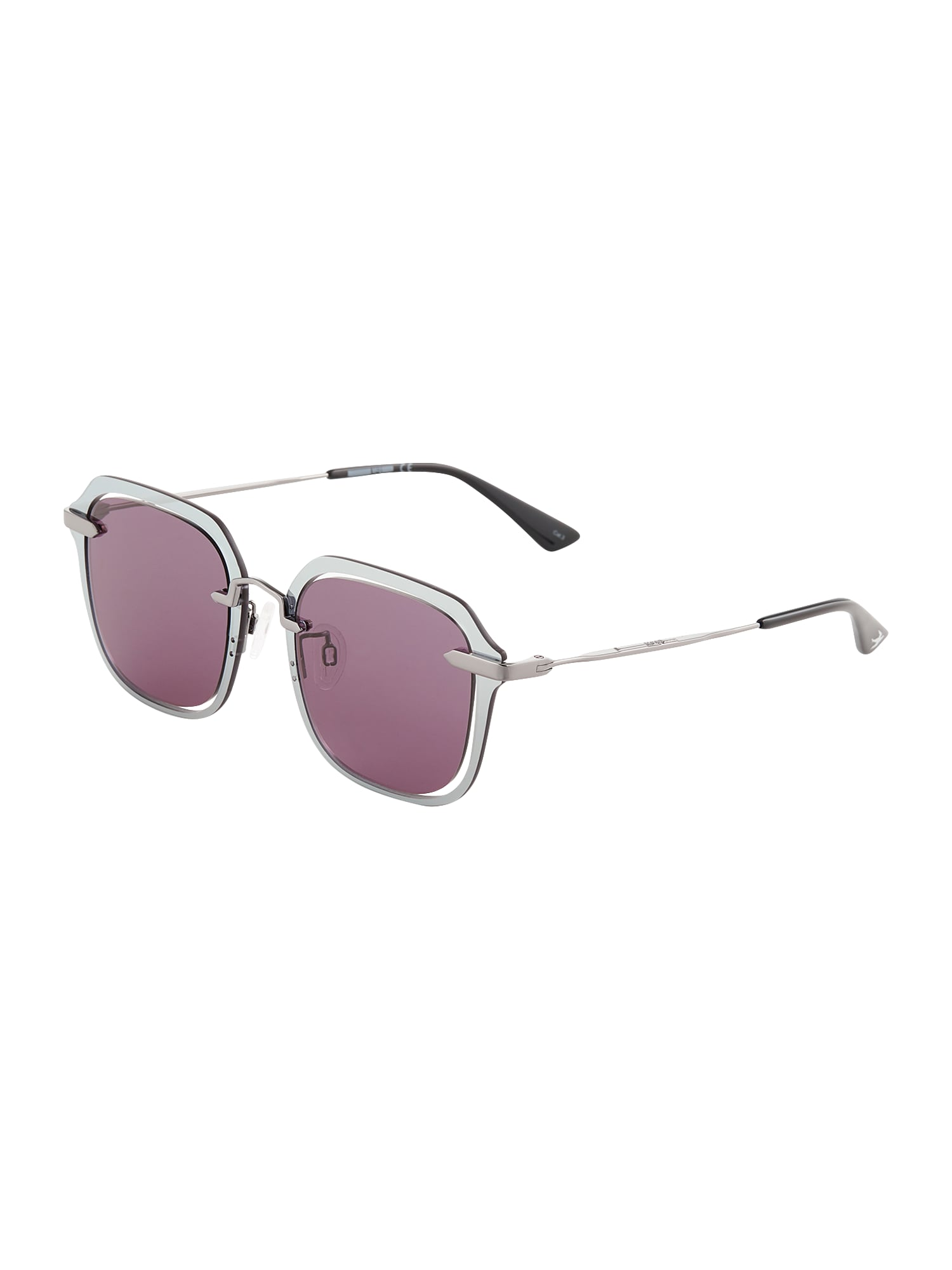 McQ Alexander McQueen Akiniai nuo saulės pilka / šviesiai violetinė
