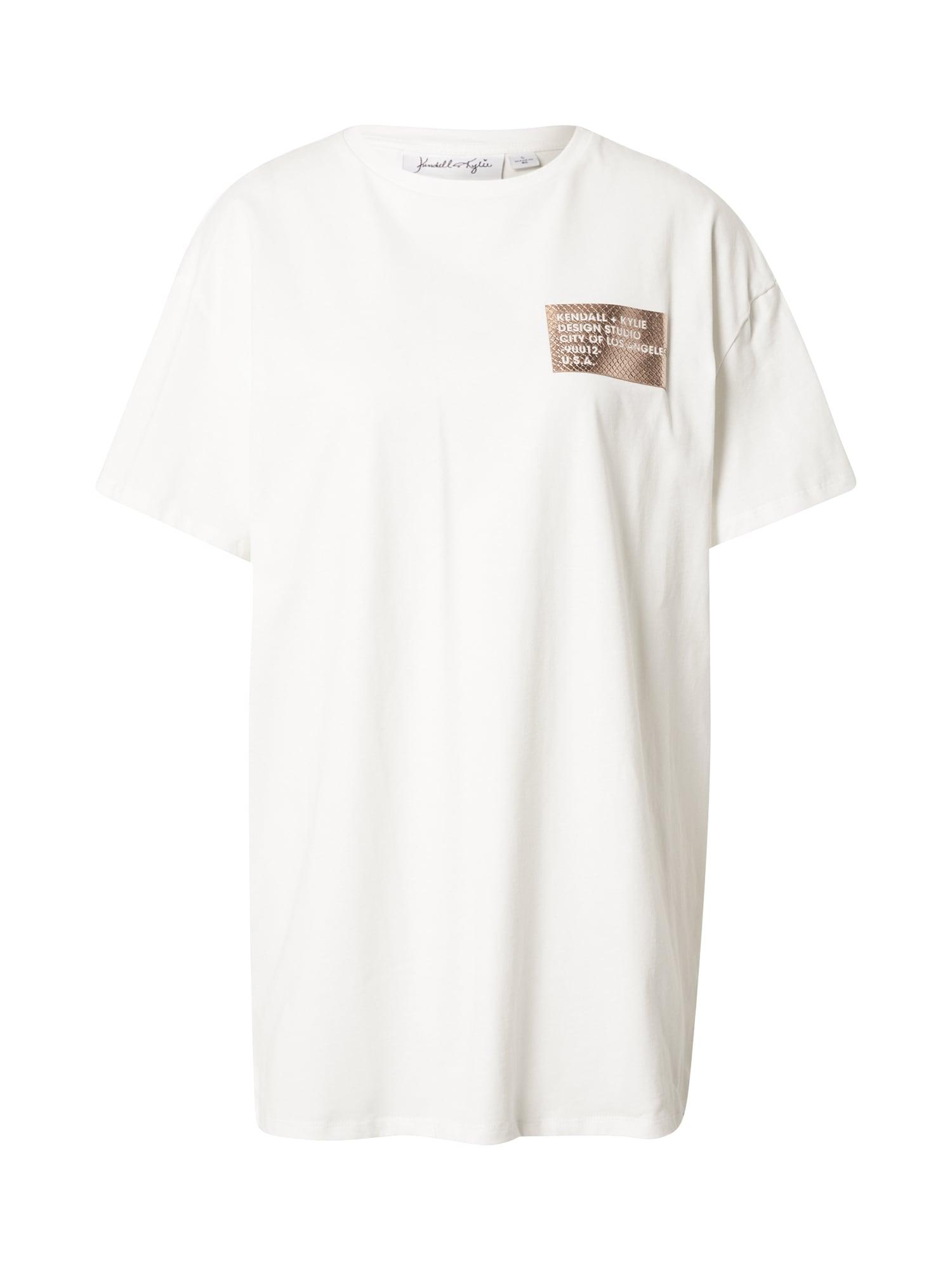 KENDALL + KYLIE Tričko  prírodná biela
