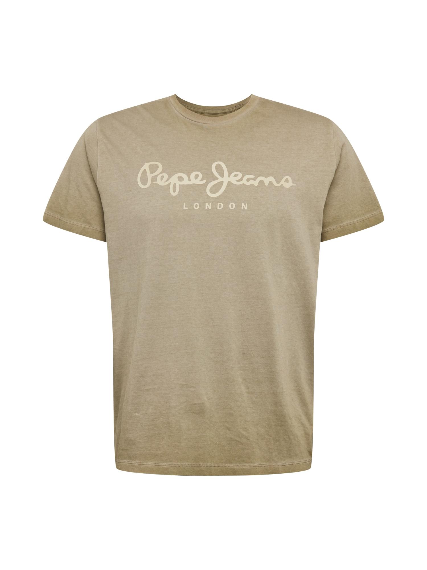 Pepe Jeans Tričko 'West Sir'  světle hnědá / starobéžová