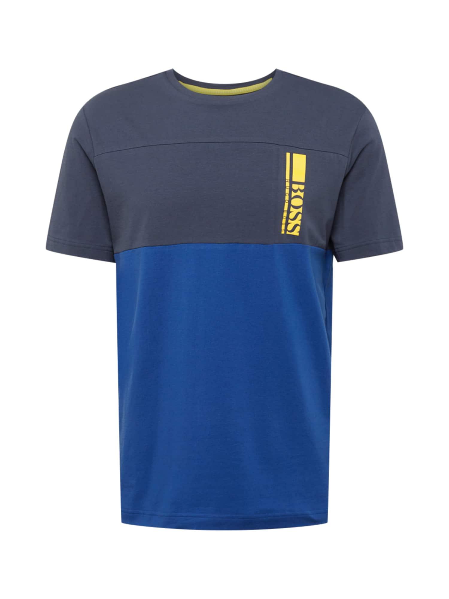 BOSS ATHLEISURE Marškinėliai tamsiai mėlyna / mėlyna