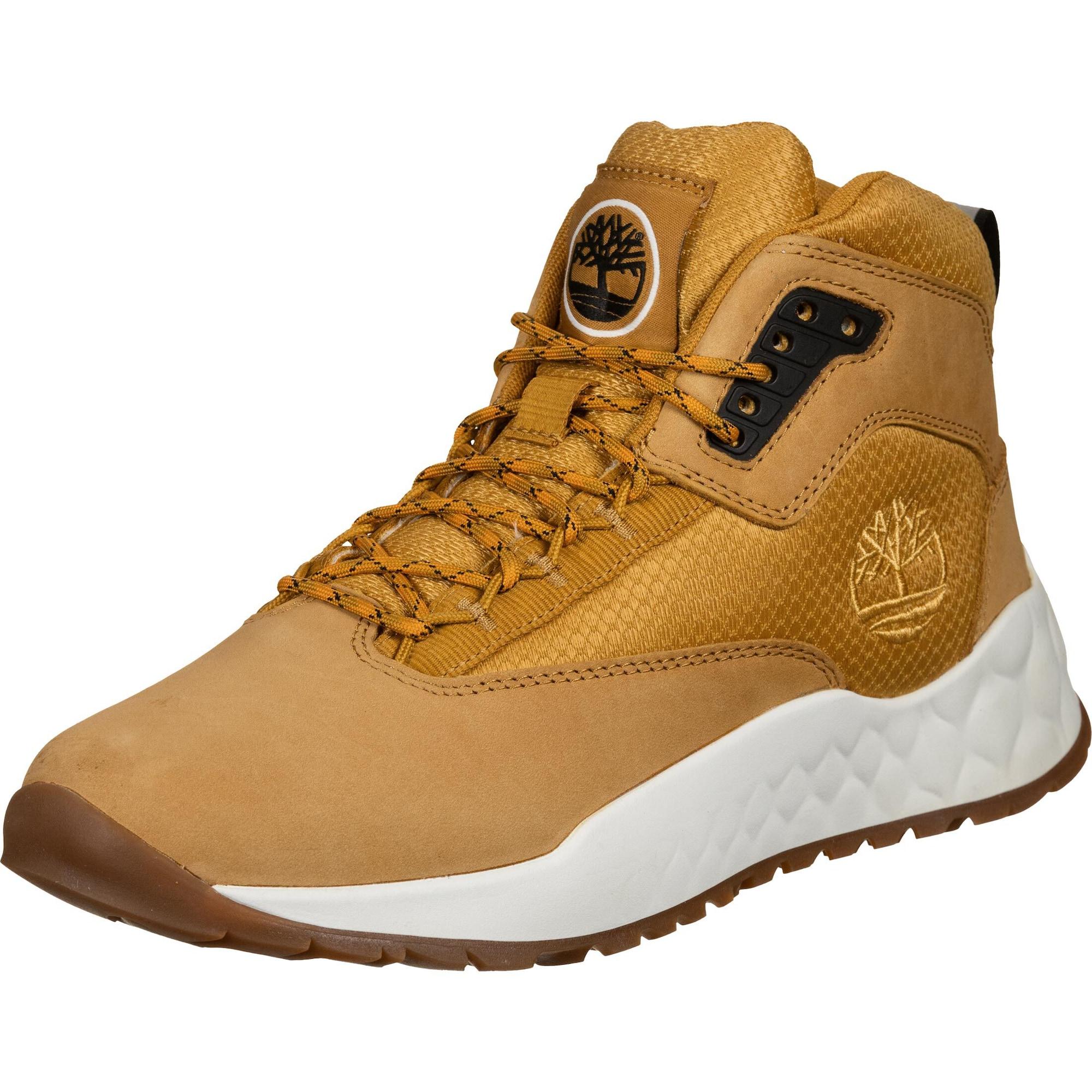 TIMBERLAND Sportinio stiliaus batai su raišteliais garstyčių spalva / aukso geltonumo spalva / juoda