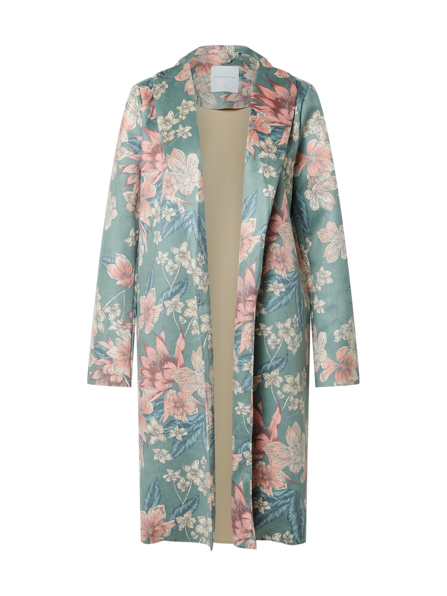 RINO & PELLE Demisezoninis paltas mišrios spalvos / pastelinė mėlyna