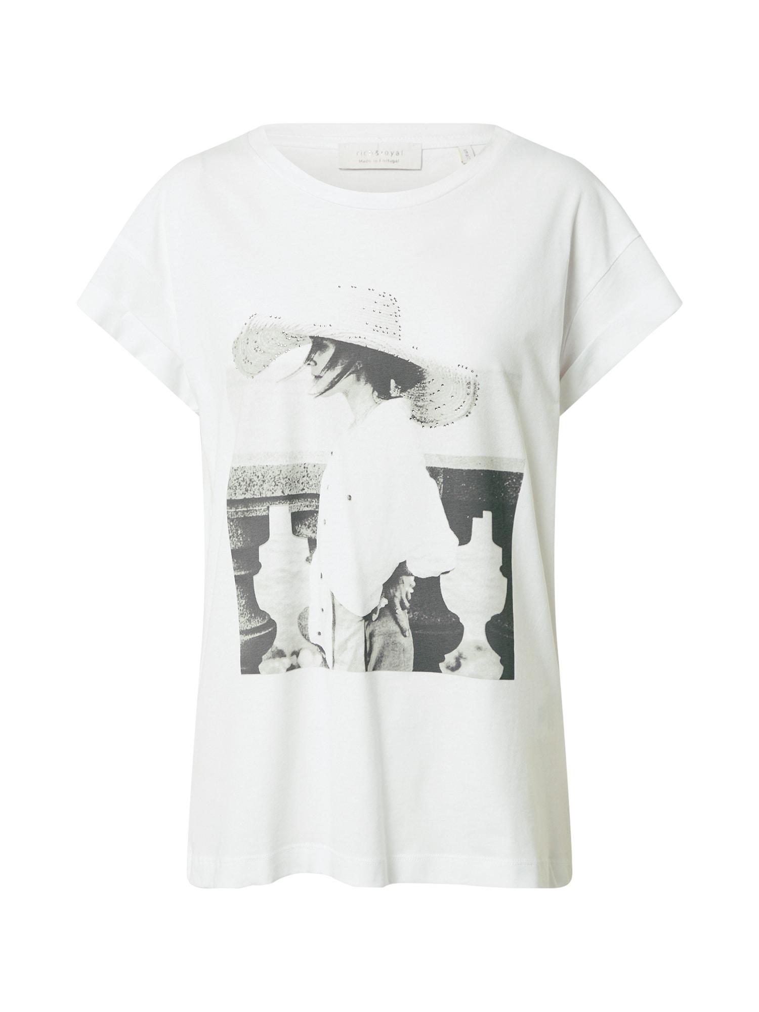 Rich & Royal Marškinėliai balta / juoda