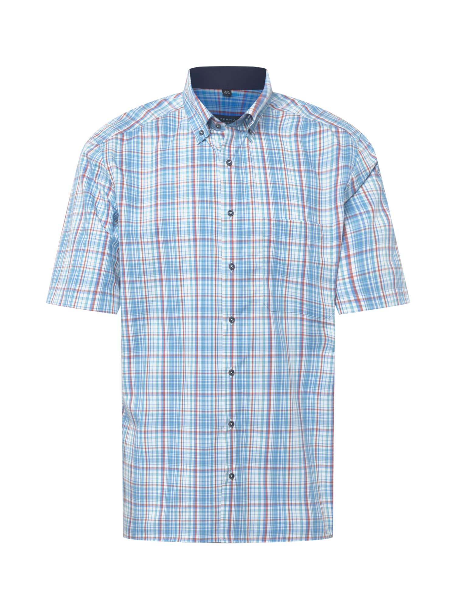 ETERNA Marškiniai mėlyna / šviesiai žalia / balta / raudona
