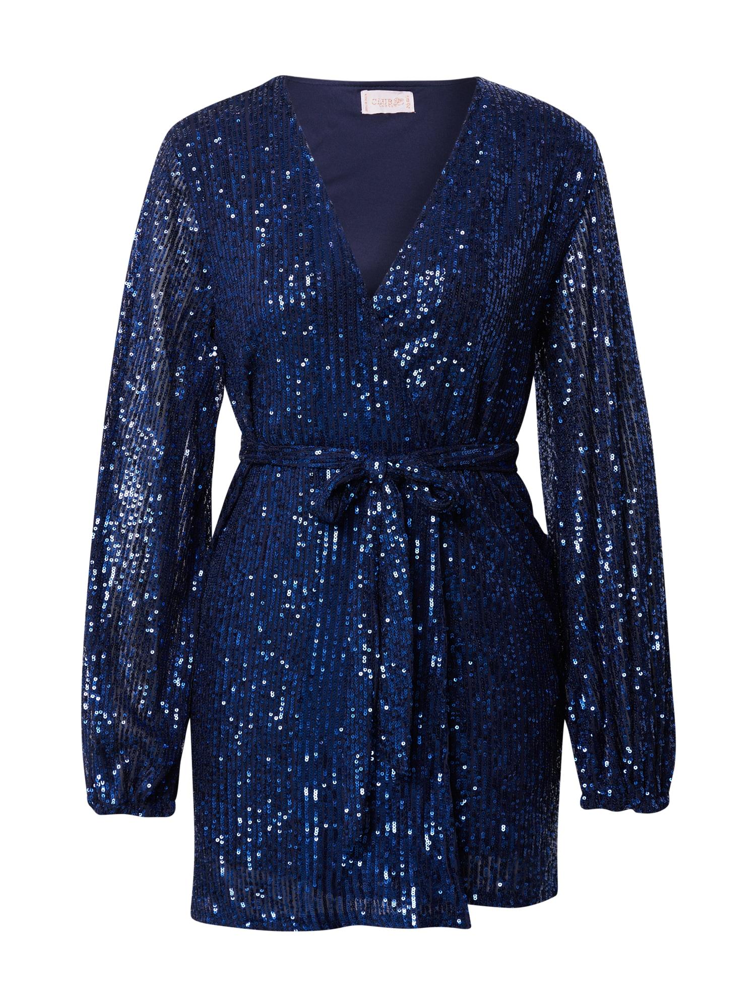 CLUB L LONDON Kokteilinė suknelė tamsiai mėlyna