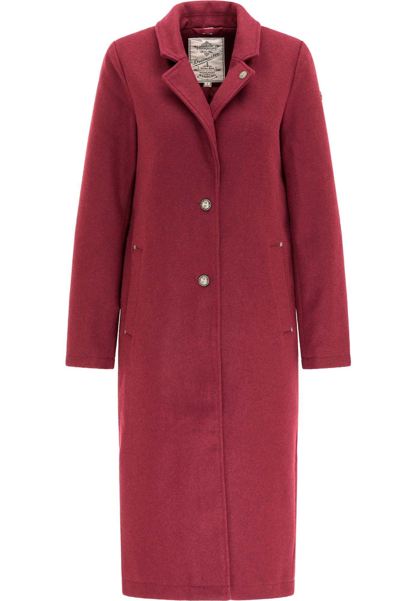 DreiMaster Vintage Demisezoninis paltas avietinė