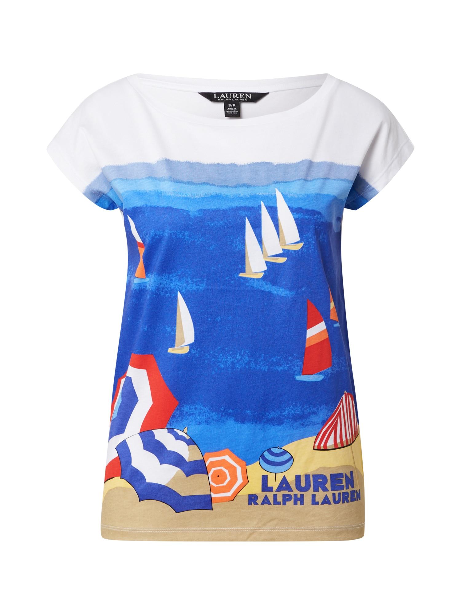 Lauren Ralph Lauren Tričko 'Grieta'  bílá / mix barev