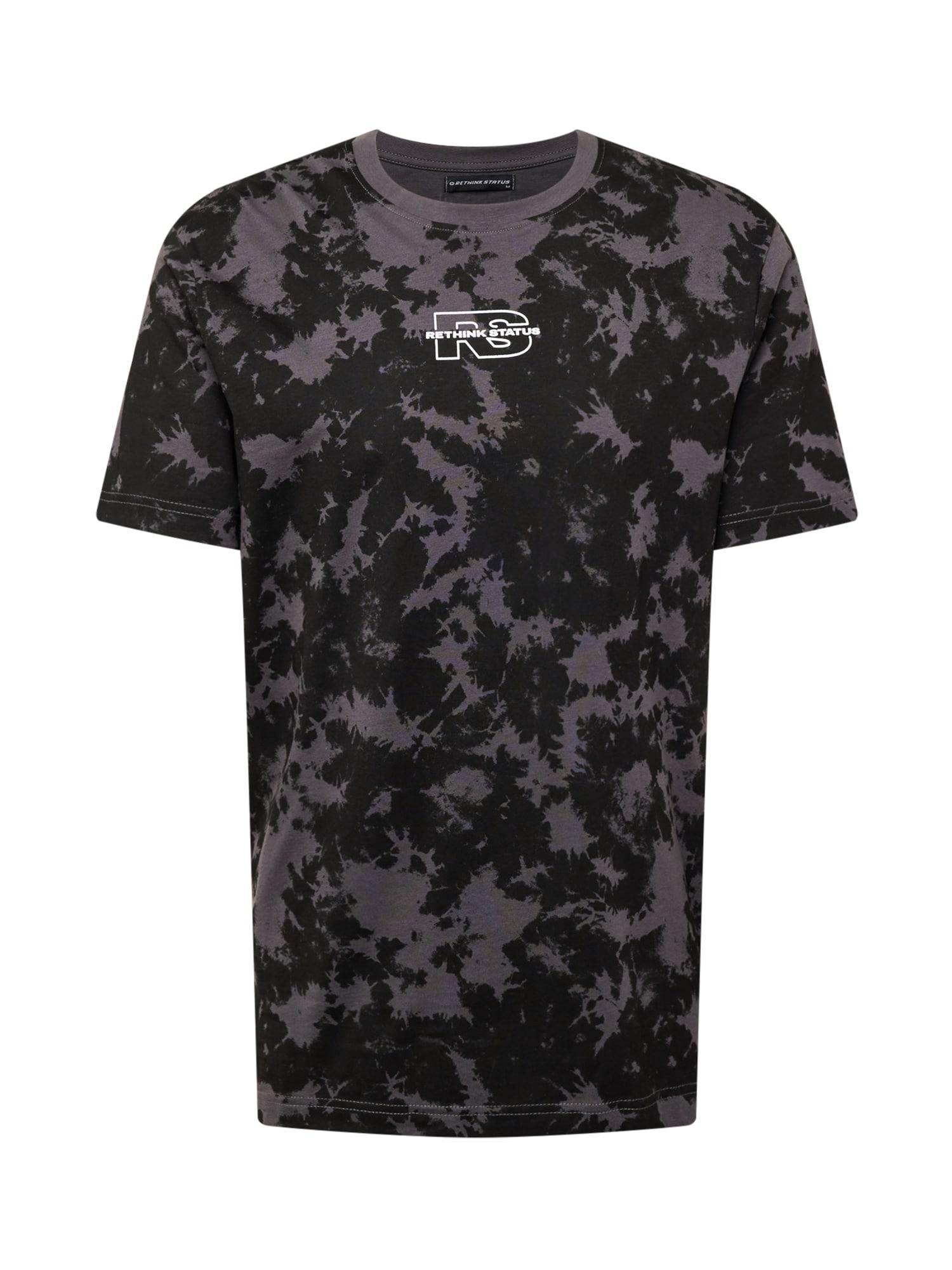 Rethink Status Marškinėliai juoda / pilka / balta