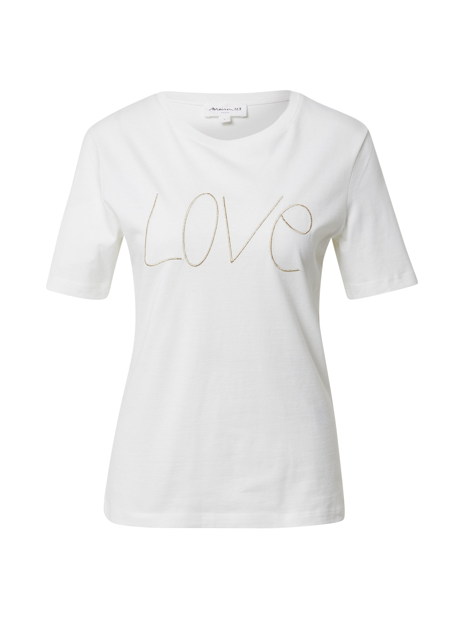 Maison 123 Marškinėliai nebalintos drobės spalva / balta