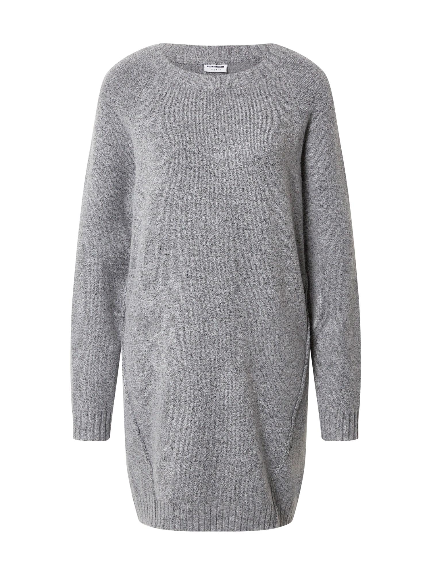Noisy may Úpletové šaty 'IAN'  šedá