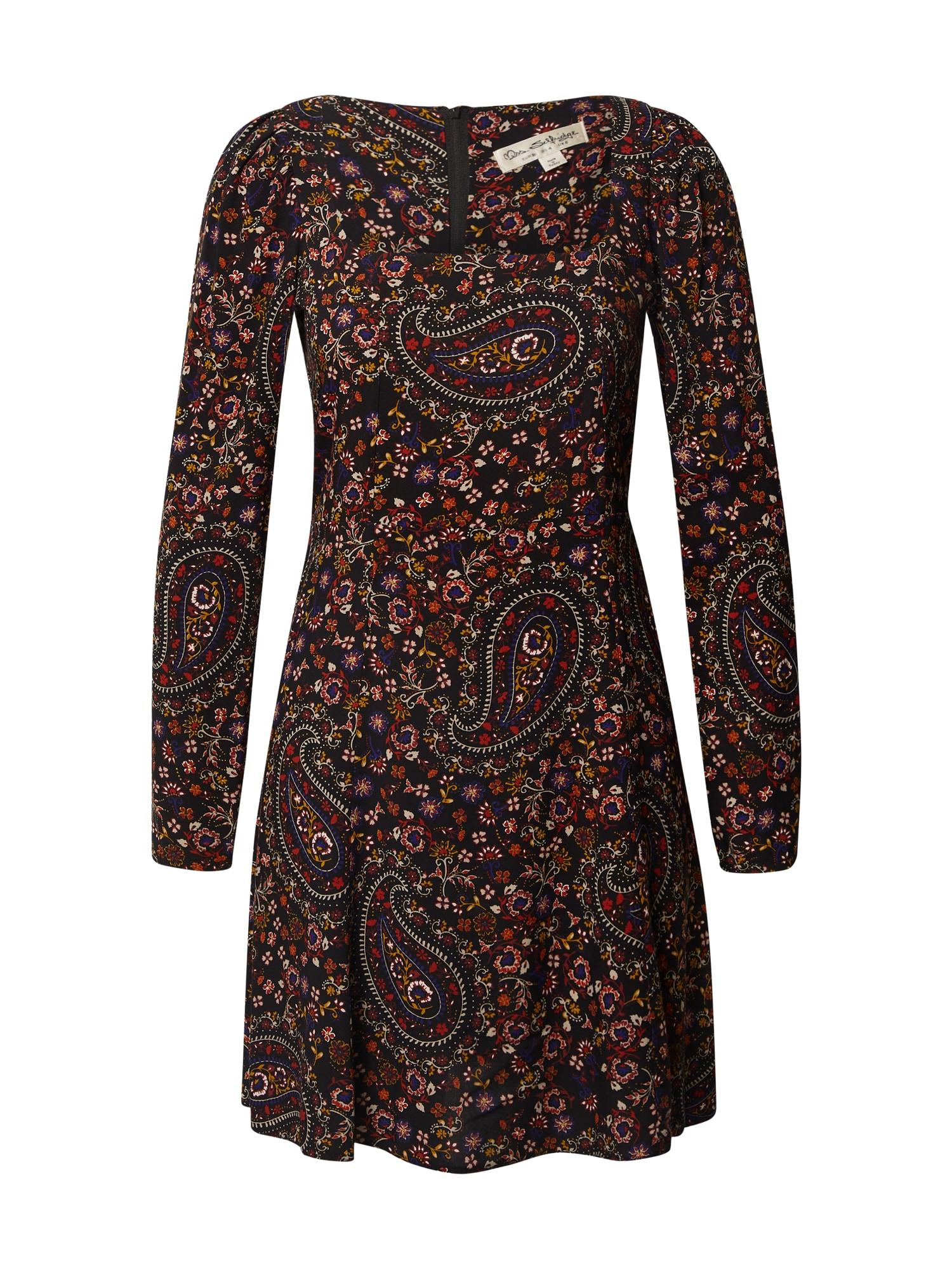 Miss Selfridge Šaty  černá / mix barev
