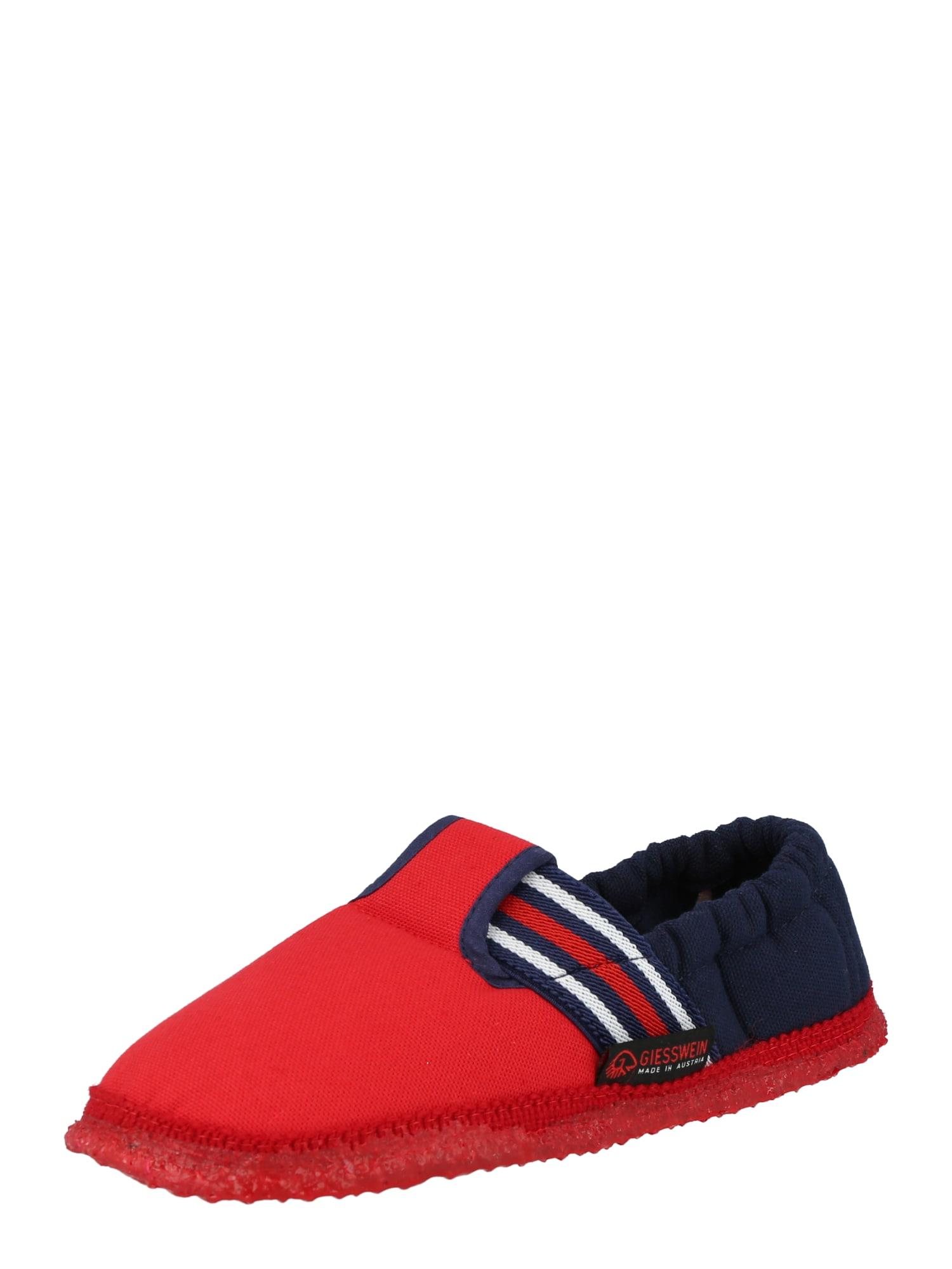 GIESSWEIN Pantofle 'Aichach'  ohnivá červená / námořnická modř / bílá