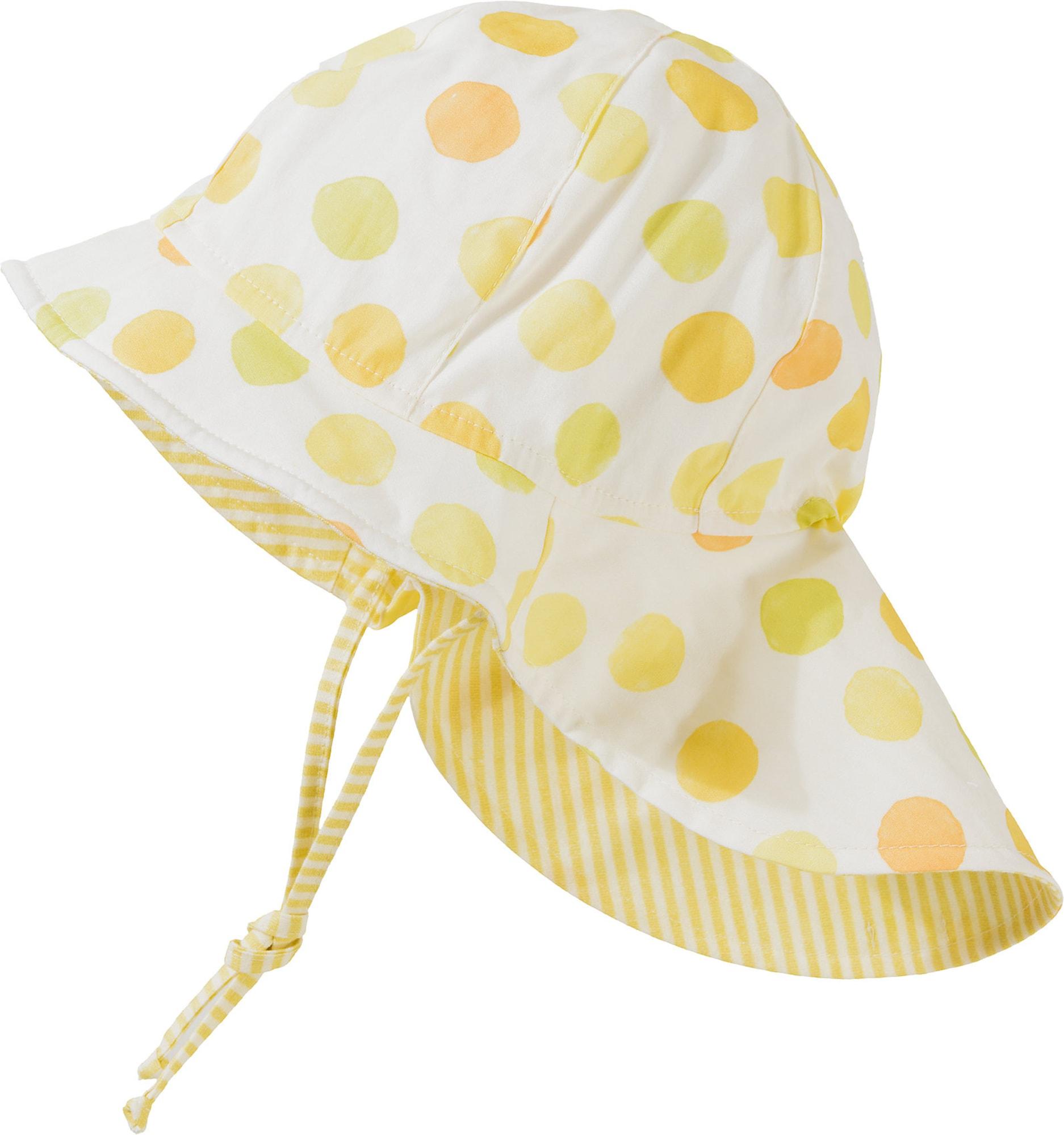 MAXIMO Skrybėlaitė balta / šviesiai geltona