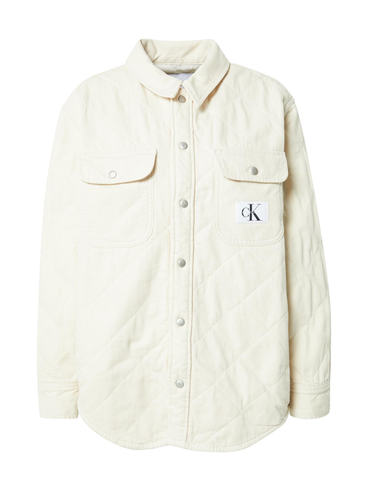 Calvin Klein Jeans Demisezoninė striukė kiaušinio lukšto spalva