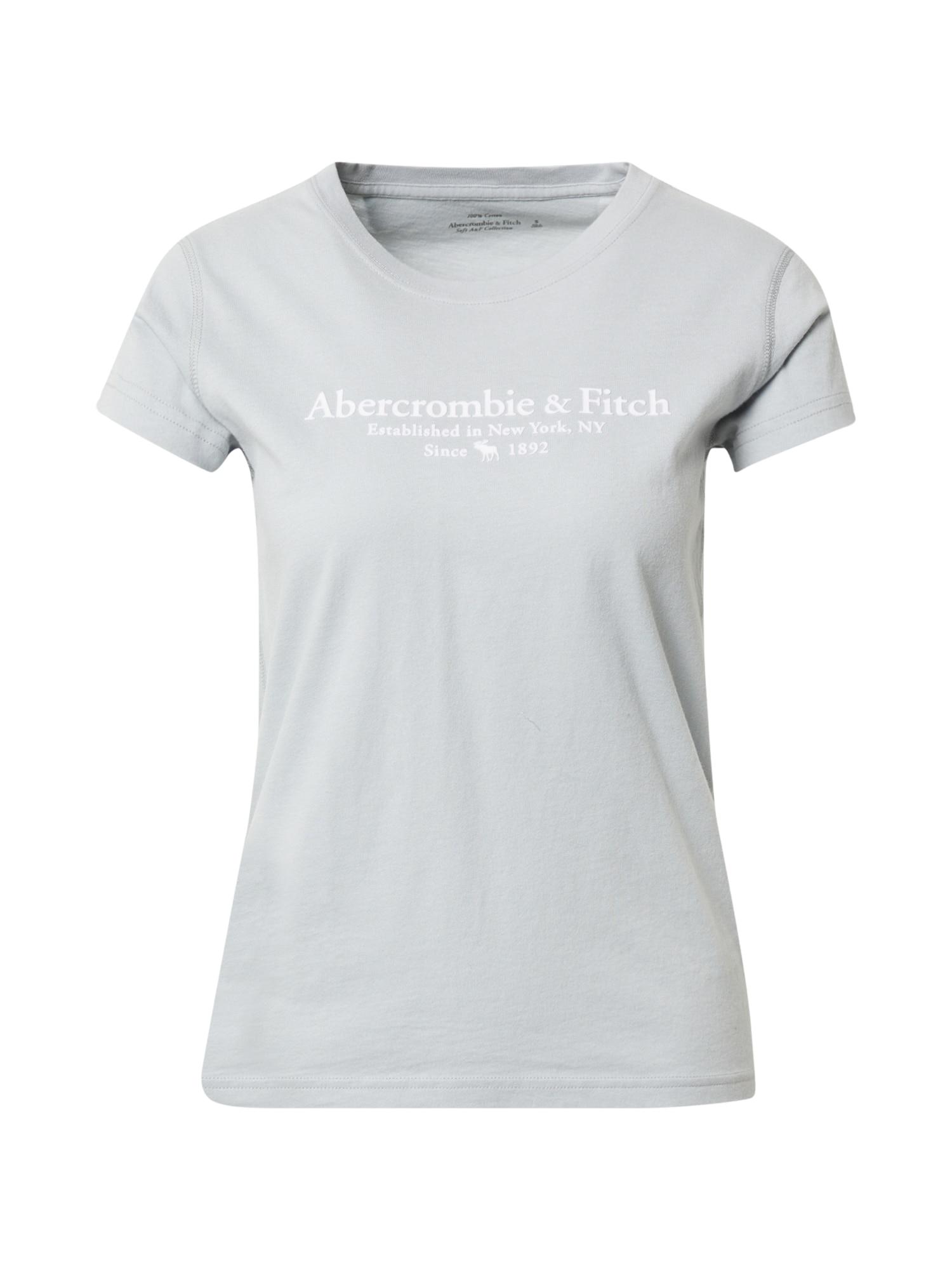 Abercrombie & Fitch Marškinėliai azuro / balta