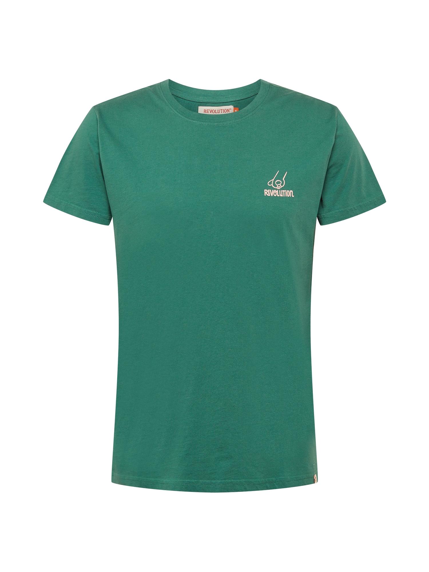 Revolution Marškinėliai žalia / rožių spalva