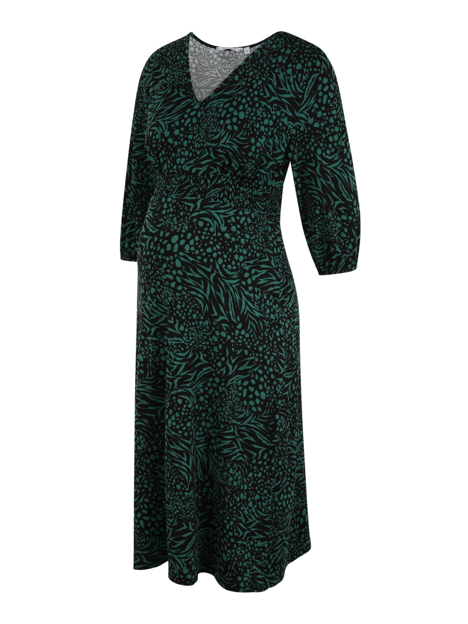 Dorothy Perkins Maternity Suknelė žalia / juoda