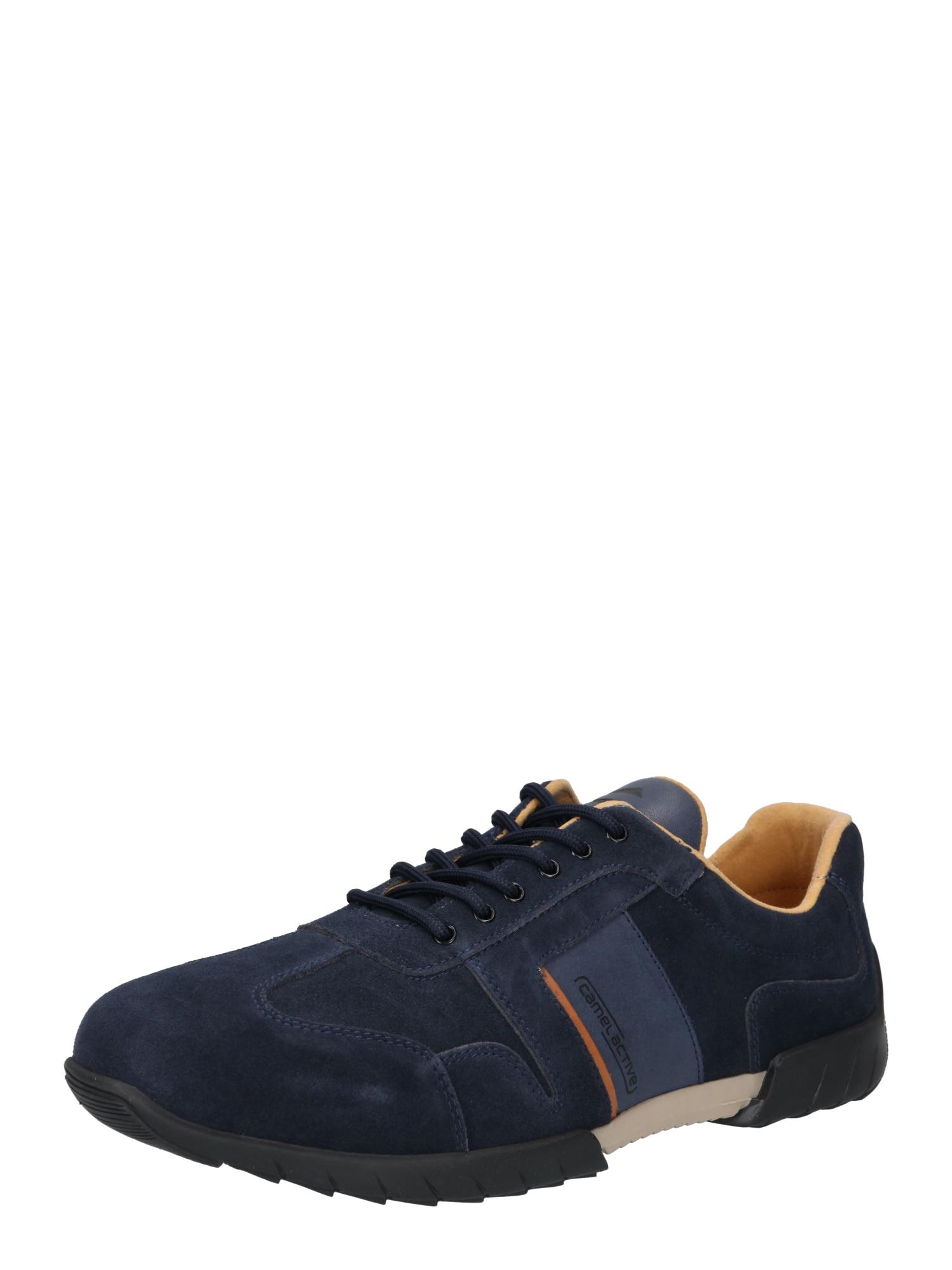 CAMEL ACTIVE Sportinio stiliaus batai su raišteliais tamsiai mėlyna / oranžinė
