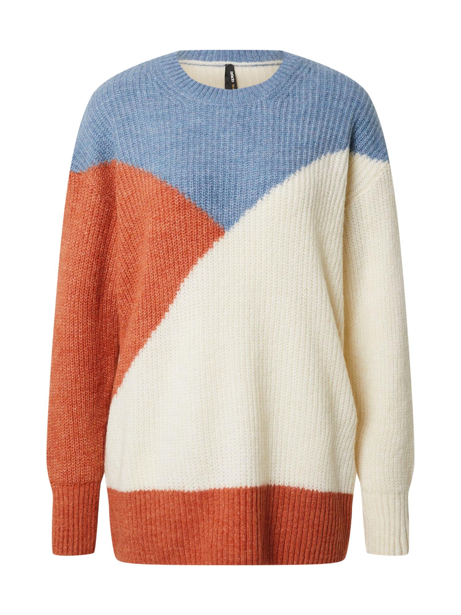 DeFacto Megztinis oranžinė / mėlyna dūmų spalva / kremo
