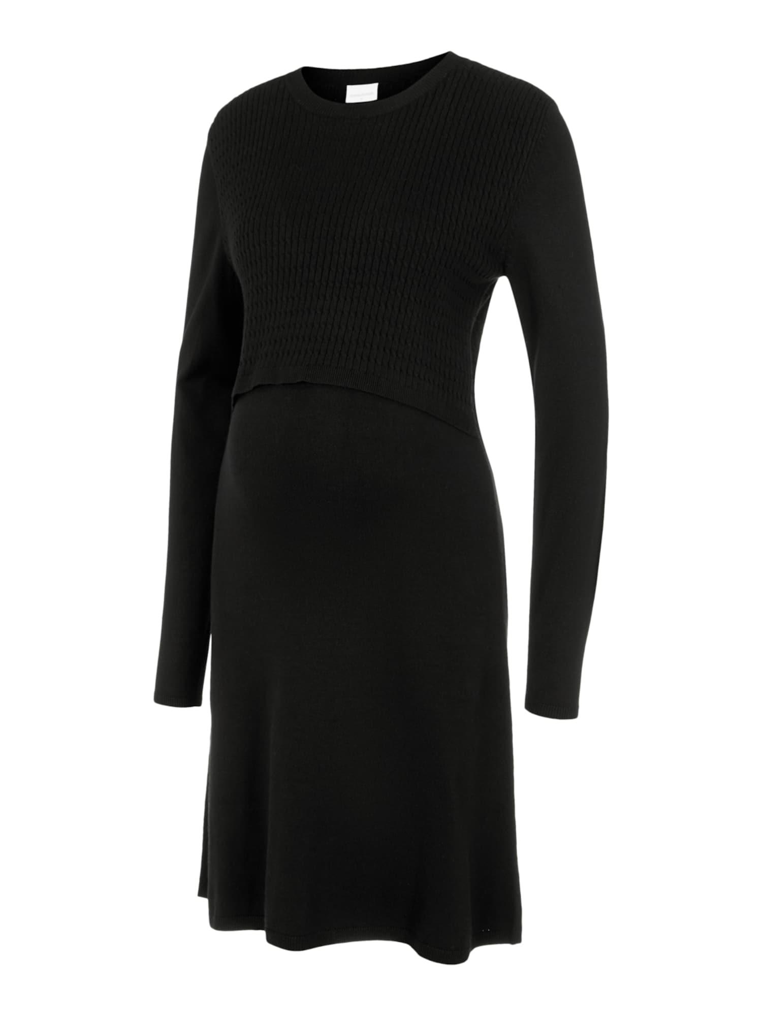MAMALICIOUS Megzta suknelė 'MLSTELLA' juoda