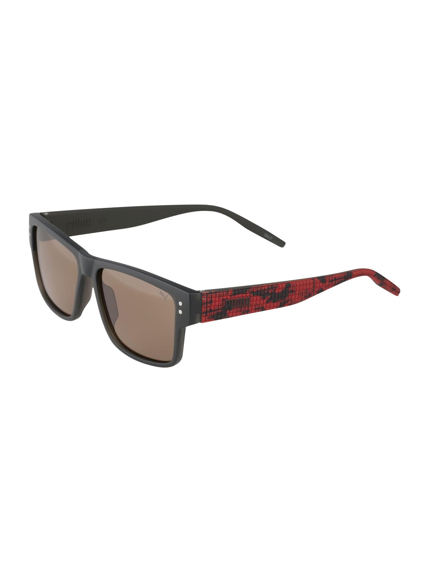 PUMA Sluneční brýle  červená / tmavě šedá / grafitová