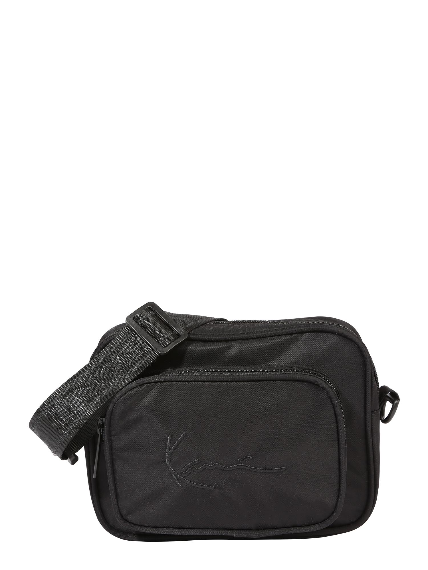 """Karl Kani """"Messenger"""" stiliaus rankinė juoda"""