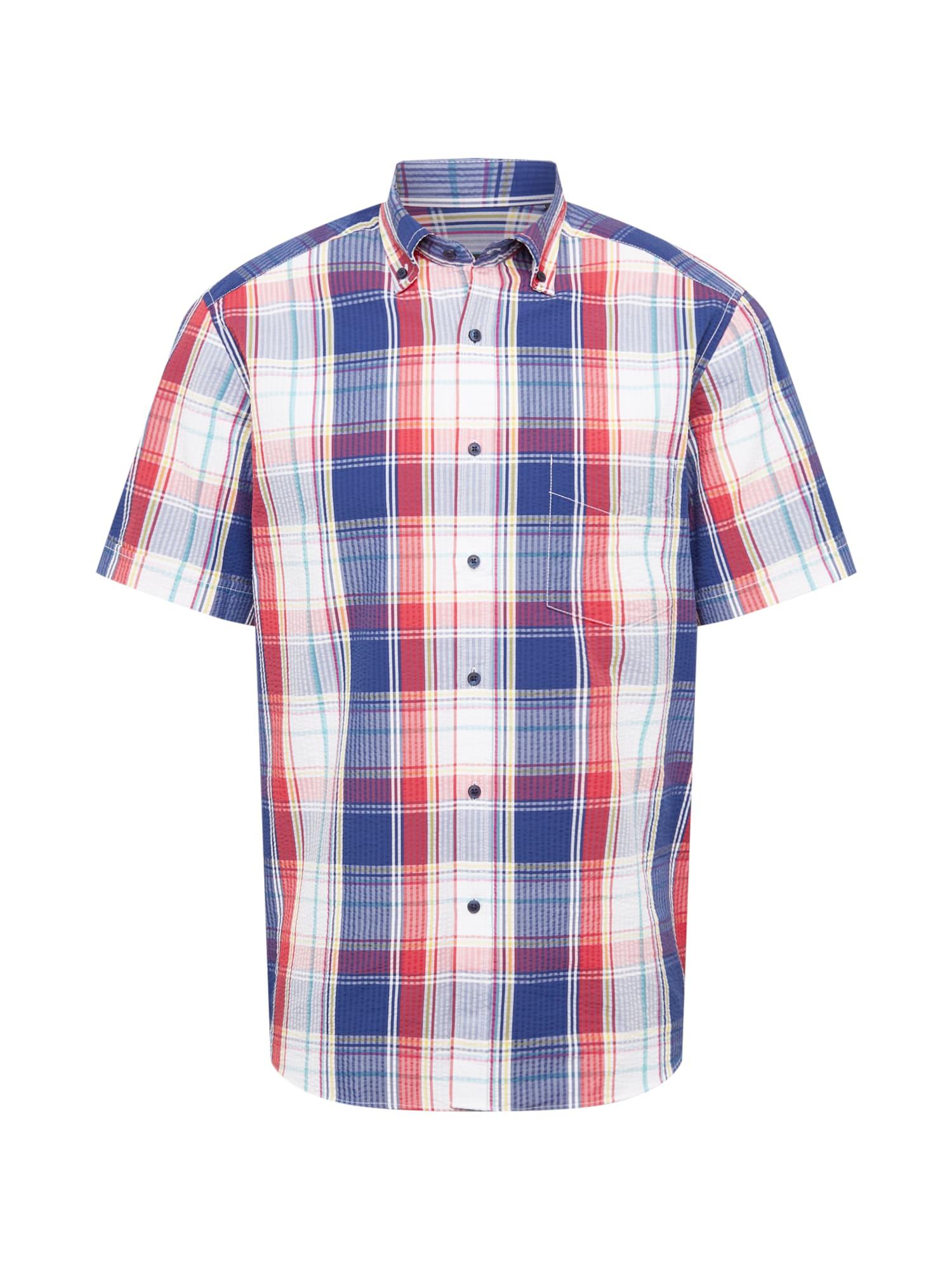 ETERNA Marškiniai tamsiai mėlyna / granatų spalva / balta / nefrito spalva / geltona