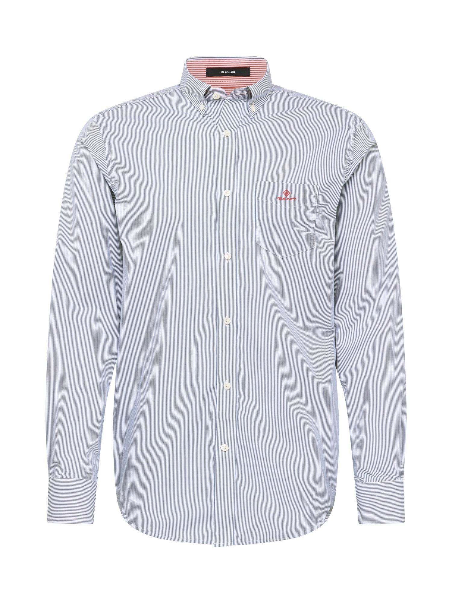 GANT Marškiniai šviesiai mėlyna / balta / melionų spalva