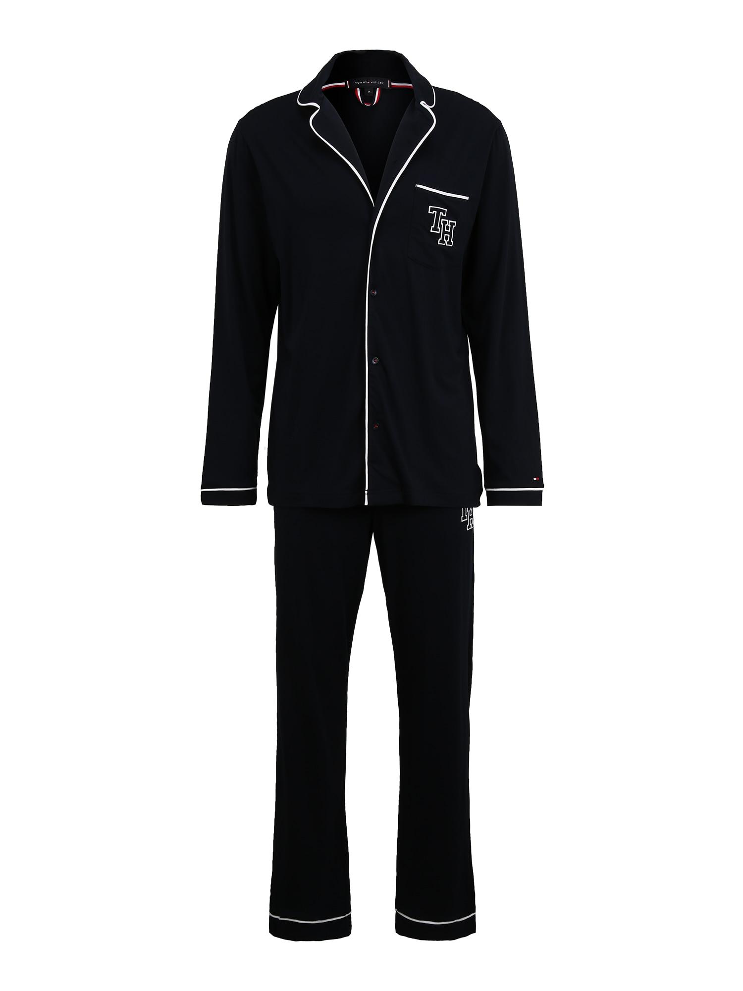 Tommy Hilfiger Underwear Ilga pižama nakties mėlyna / balta
