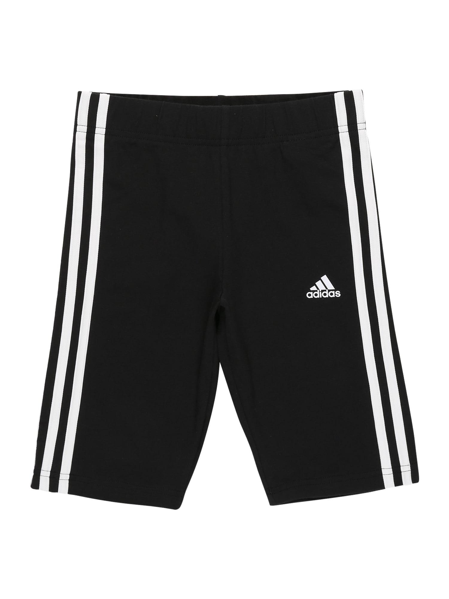 ADIDAS PERFORMANCE Sportinės kelnės 'Essentials' juoda / balta
