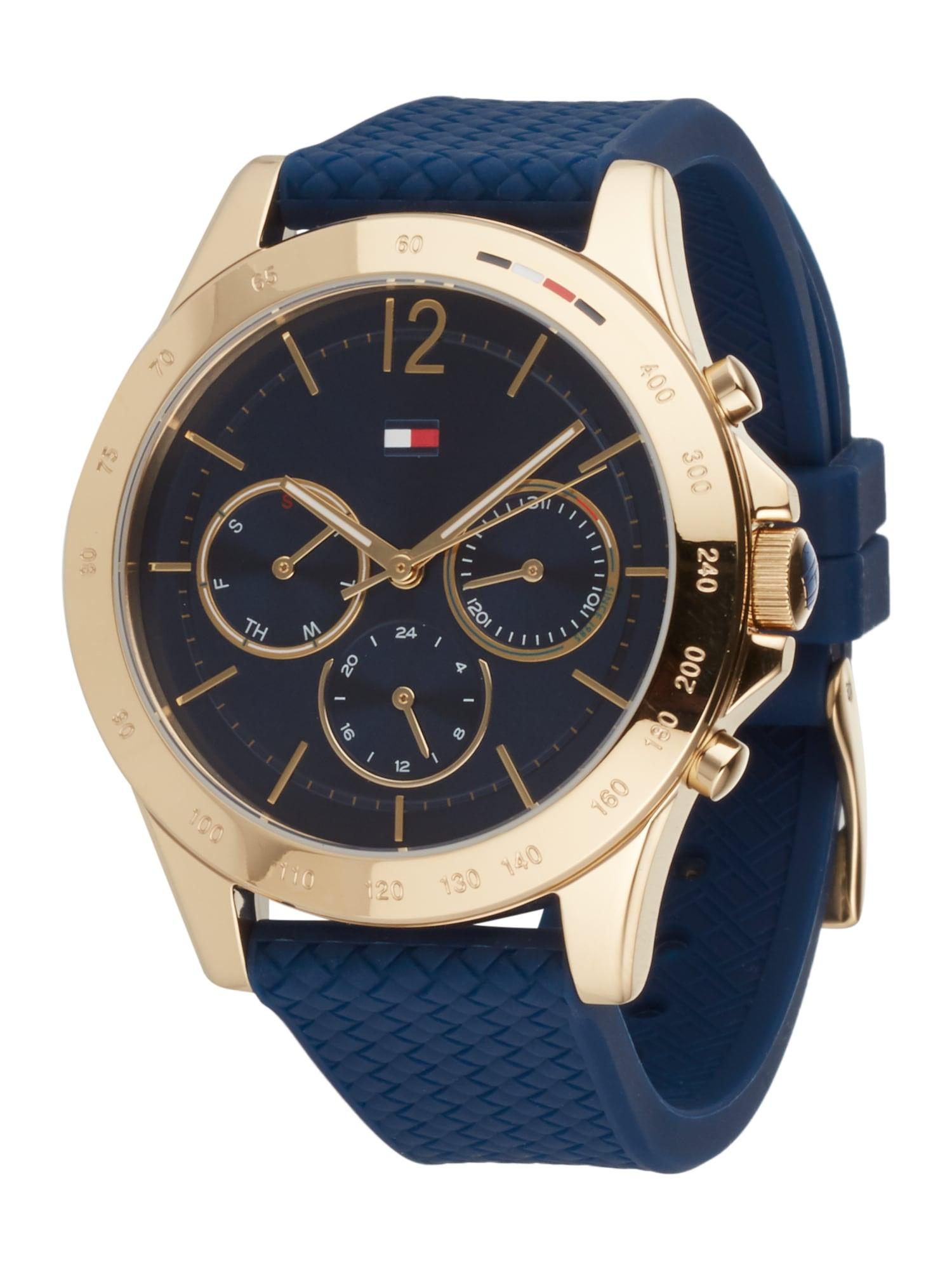 TOMMY HILFIGER Analoginis (įprasto dizaino) laikrodis tamsiai mėlyna jūros spalva