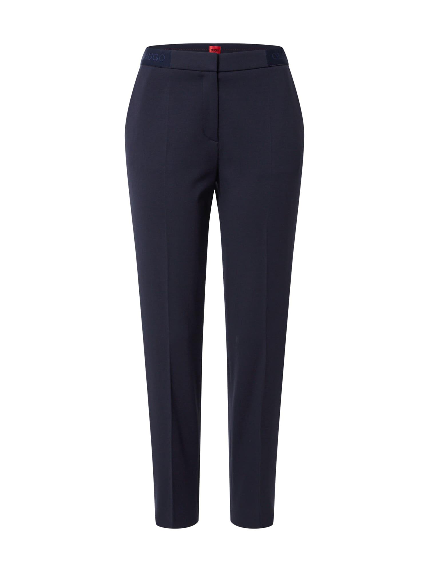HUGO Kalhoty s puky  námořnická modř