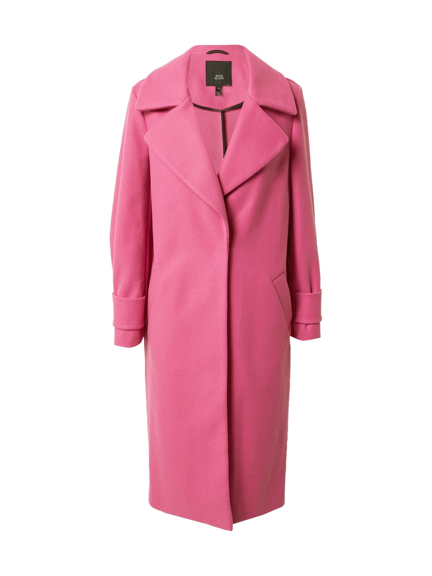 River Island Demisezoninis paltas rožinė