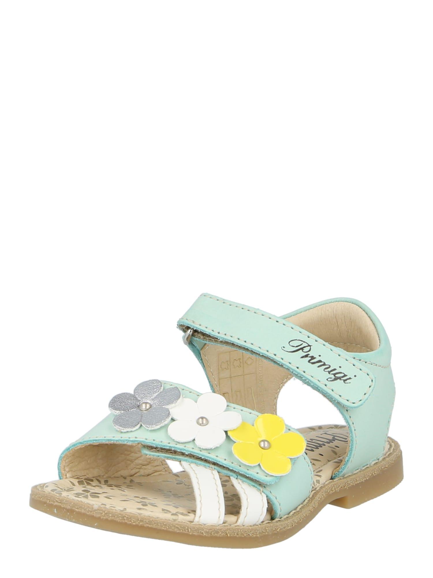 PRIMIGI Sandalai šviesiai mėlyna / balta / geltona / pilka