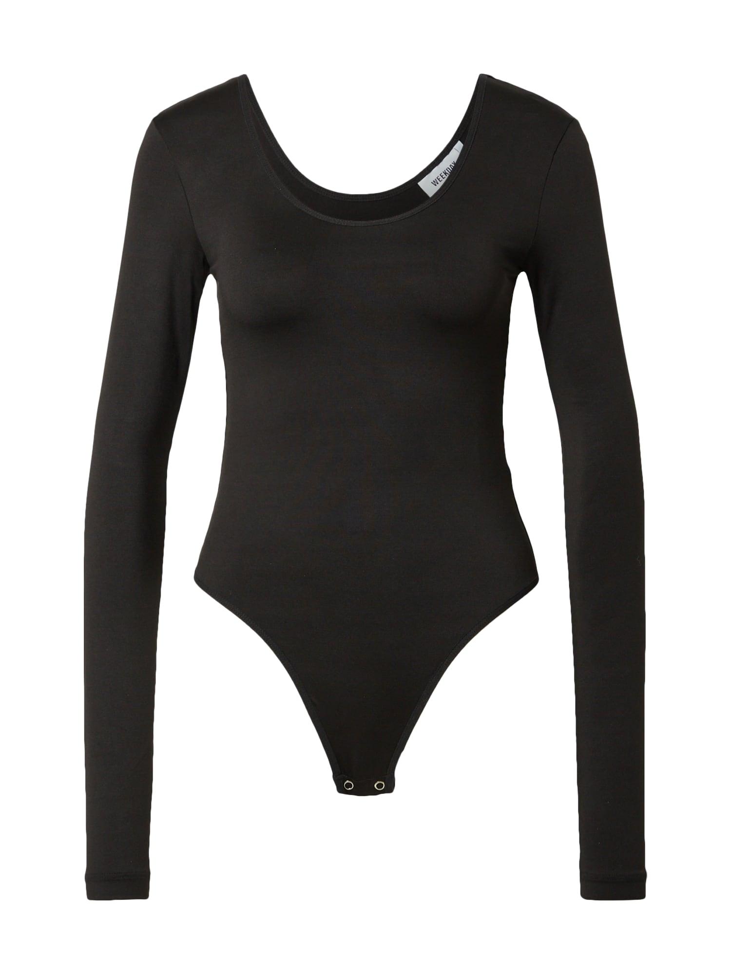 WEEKDAY Tričkové body 'Dance'  černá