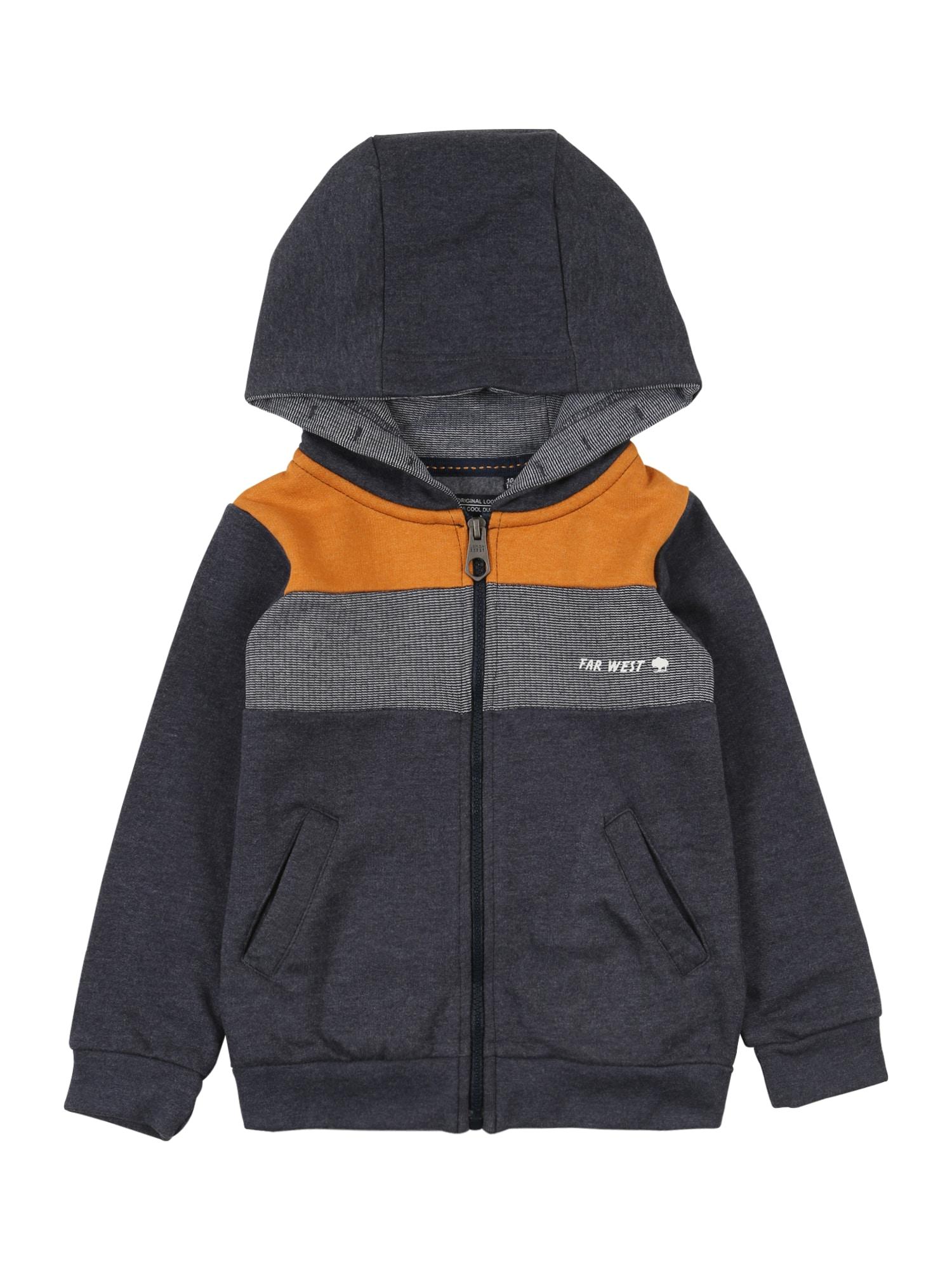 LEMON BERET Džemperis tamsiai mėlyna / oranžinė / balta