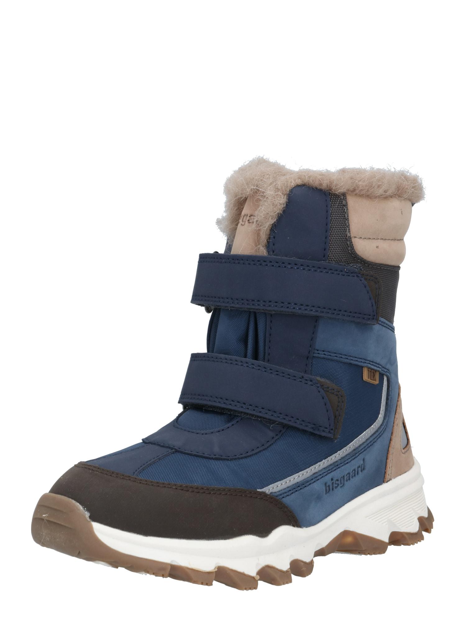 BISGAARD Sniego batai tamsiai mėlyna / smėlio / juoda