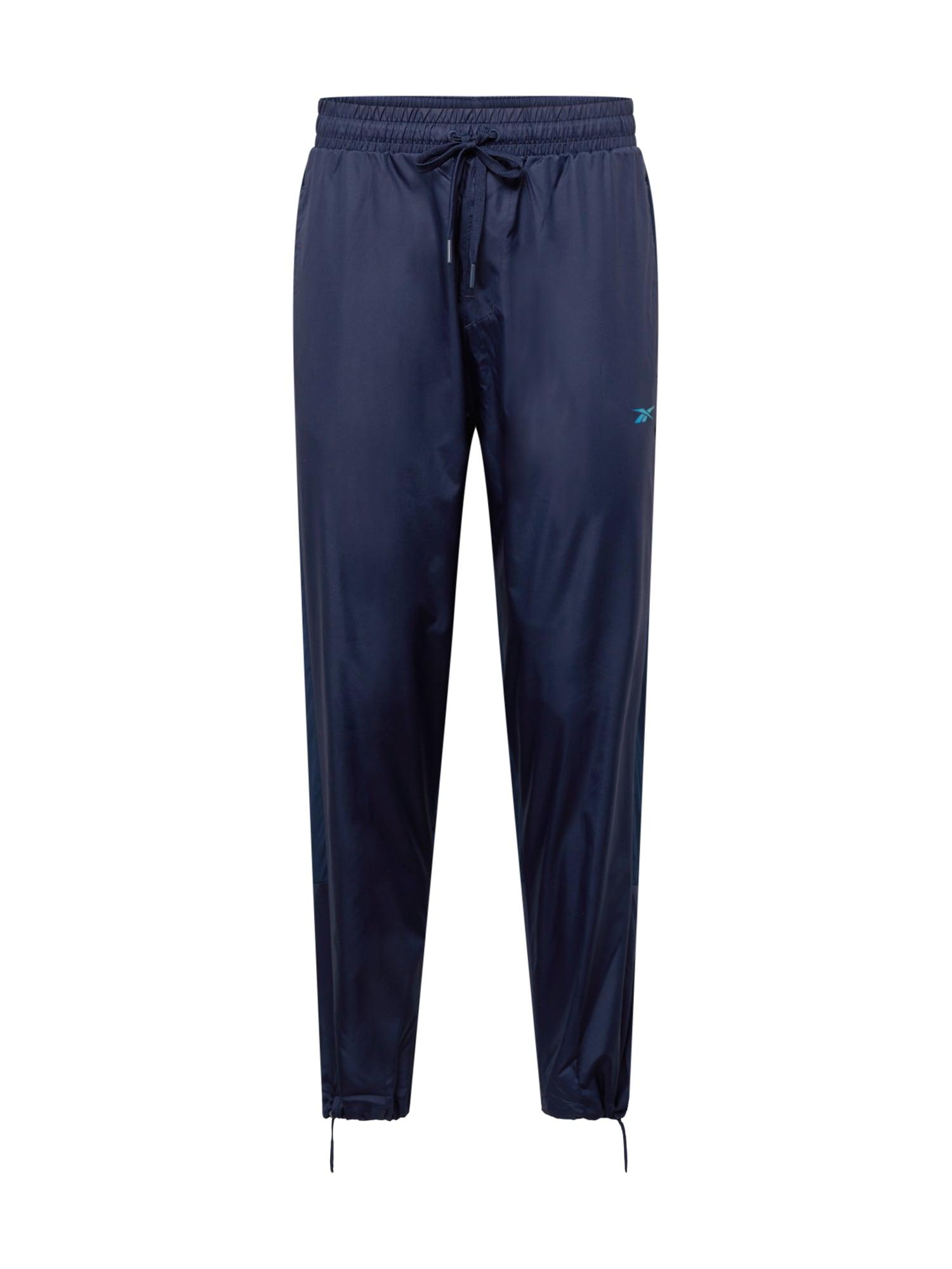REEBOK Sportinės kelnės tamsiai mėlyna
