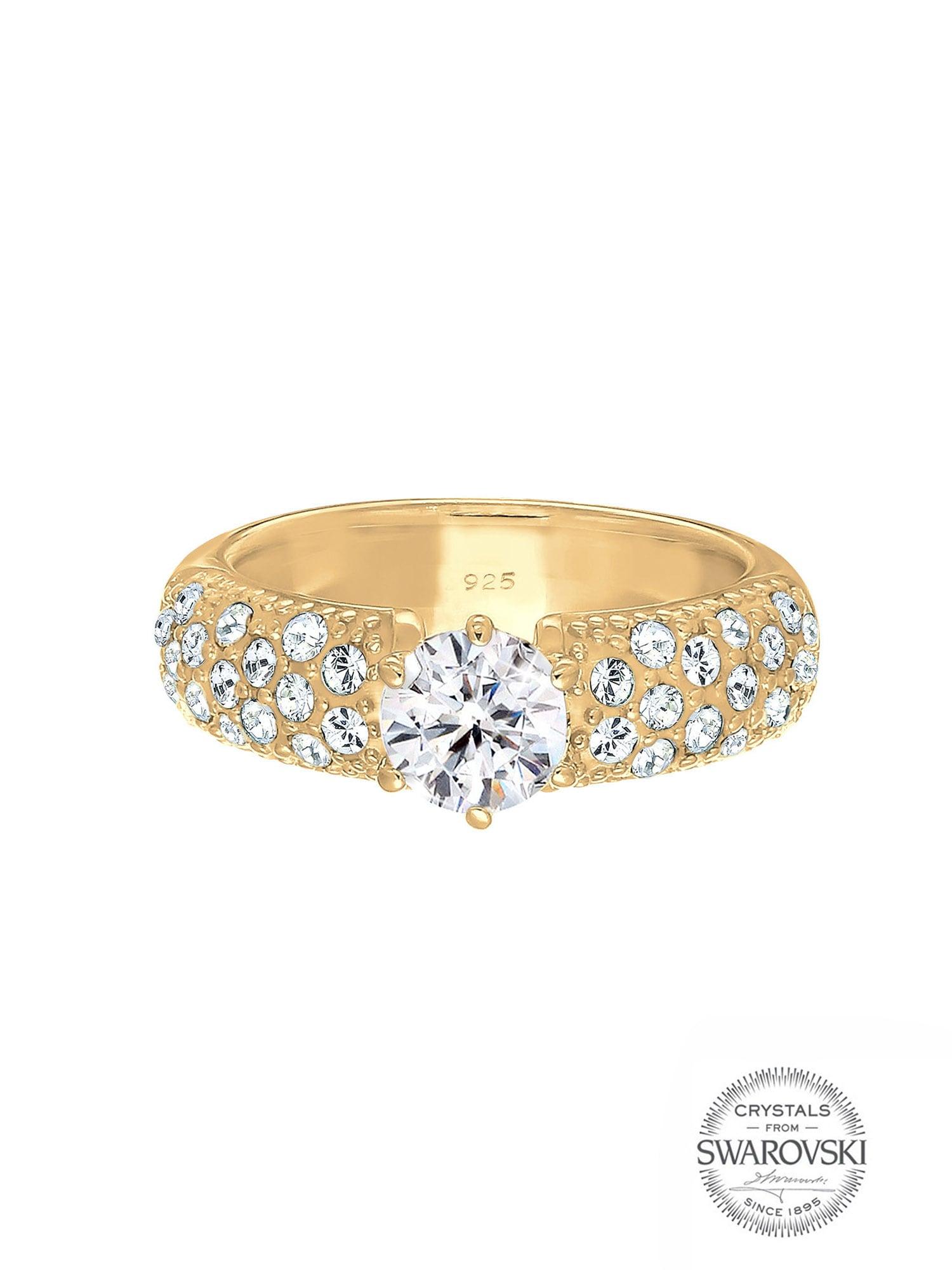 ELLI PREMIUM Žiedas auksas / skaidri spalva