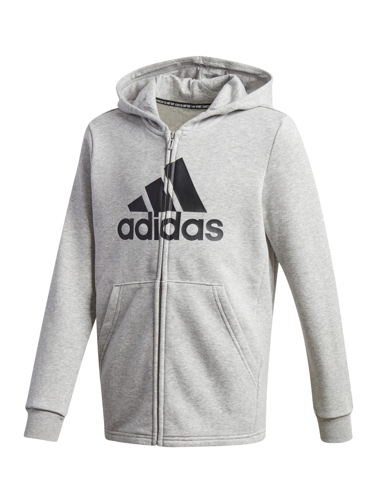 ADIDAS PERFORMANCE Sportinis džemperis juoda / šviesiai pilka