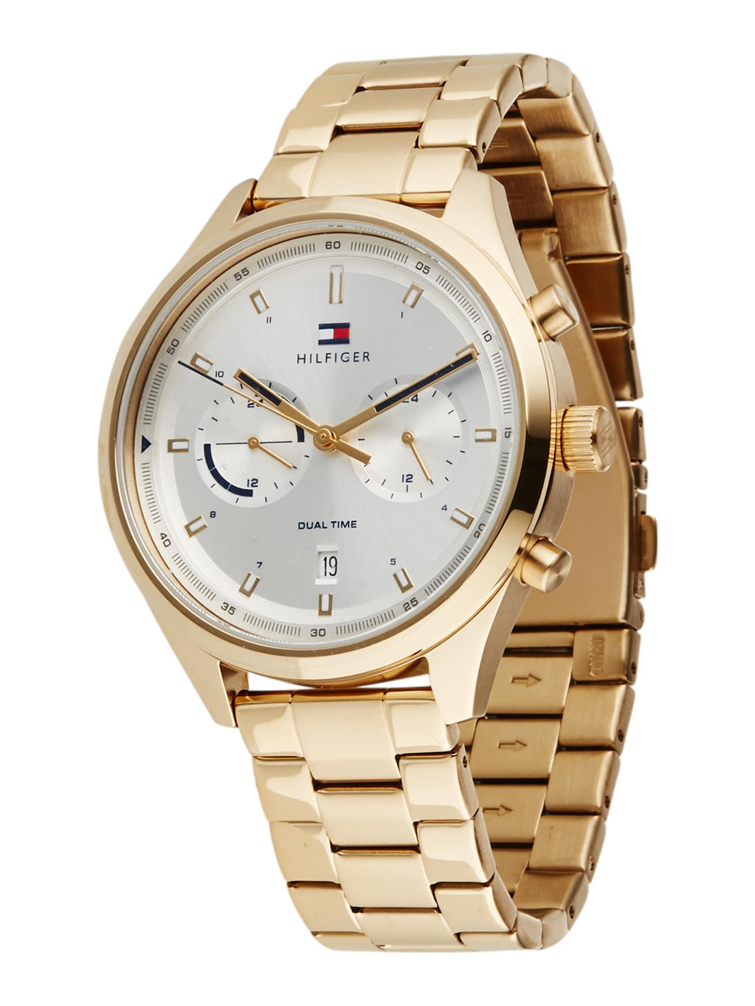 TOMMY HILFIGER Analoginis (įprasto dizaino) laikrodis auksas / balta