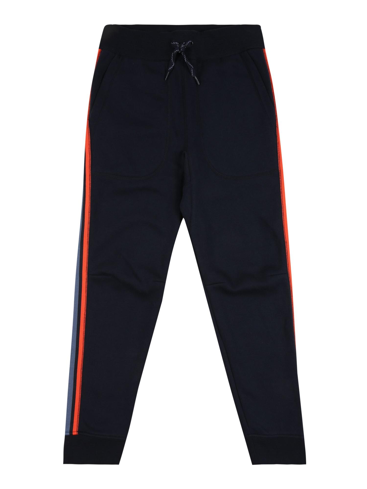 GAP Kalhoty  tmavě modrá / kouřově modrá / tmavě oranžová